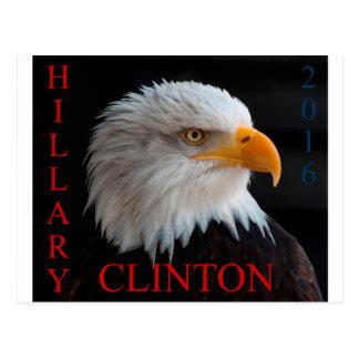 Hillary Clinton Eagle Postkarte