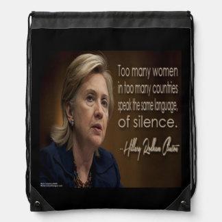 Hillary Clinton-Frauenr stiller Turnbeutel