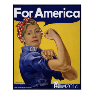 Hillary Clinton für Amerika Poster