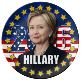 Hillary Clinton für Präsident Schürze Platte 2016 Teller Aus Porzellan