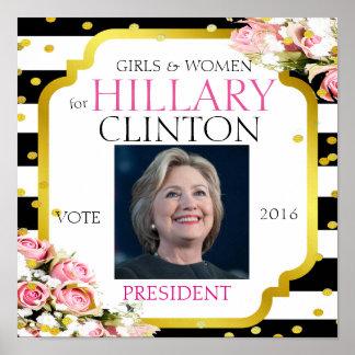Hillary Clinton für Präsidenten 2016 Poster