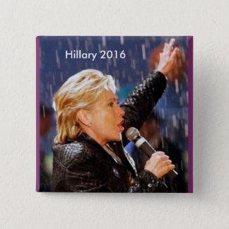 Hillary Clinton für Präsidenten 2016 Quadratischer Button 5,1 Cm