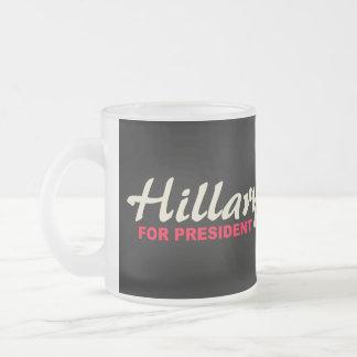 Hillary Clinton für Präsidenten Matte Glastasse