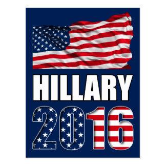 Hillary Clinton für Präsidenten Postkarte 2016