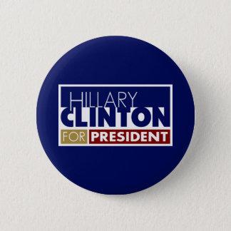 Hillary Clinton für Präsidenten V1 Runder Button 5,7 Cm