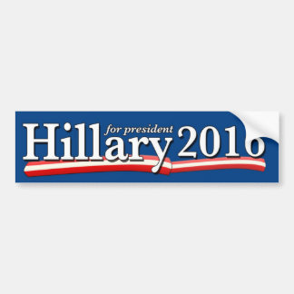 Hillary Clinton für PräsidentenAutoaufkleber 2016 Autoaufkleber