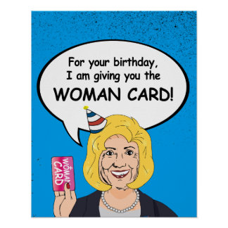 Hillary Clinton-Geburtstags-Karte - für Ihren Poster