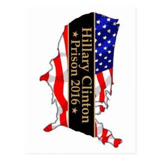 Hillary Clinton-Gefängnis2016 Antihillary-Entwurf Postkarte