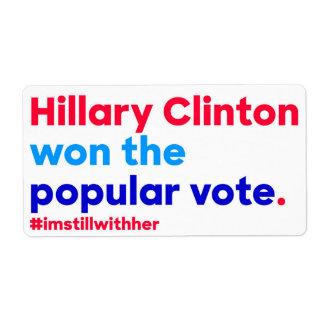 Hillary Clinton gewann die Stimmenmehrheit