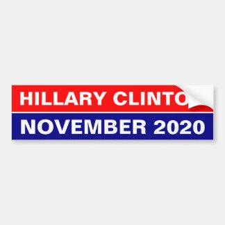 HILLARY CLINTON IM NOVEMBER 2020 AUTOAUFKLEBER