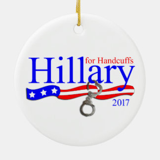 Hillary Clinton in der Keramik Ornament