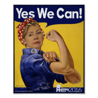 Hillary Clinton ja können wir! Poster