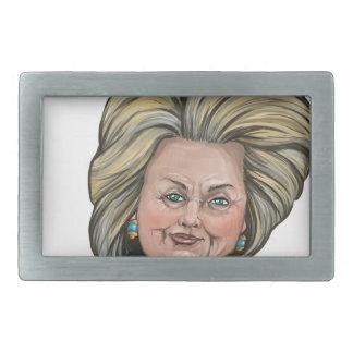 Hillary Clinton-Karikatur Rechteckige Gürtelschnalle