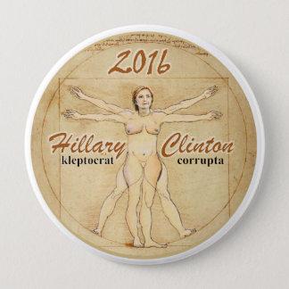 Hillary Clinton: kleptocrat corrupta Runder Button 10,2 Cm
