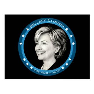 Hillary Clinton: malerisch: Postkarte