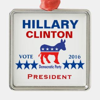 Hillary Clinton-Präsident 2016 Silbernes Ornament