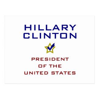 Hillary Clinton-Präsident USA V2 Postkarte
