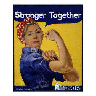 Hillary Clinton stärker zusammen Poster