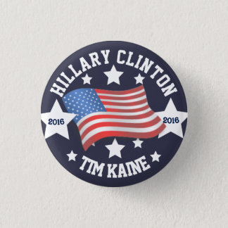 Hillary Clinton/Tim Kaine Runder Button 2,5 Cm