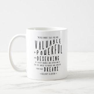 Hillary Clinton-Zitat | Typografie Kaffeetasse