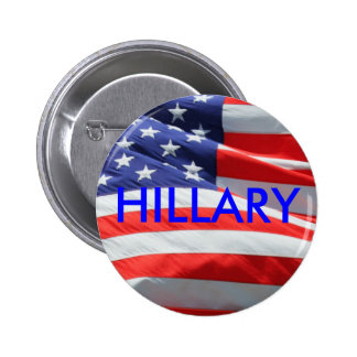 Hillary, der für Knopf Präsidenten-amerikanische Runder Button 5,1 Cm