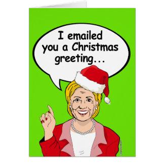 Hillary-E-Mailweihnachtsgruß Karte