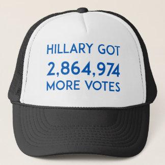 Hillary erhielt mehr Stimmen Truckerkappe