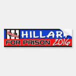 """""""Hillary für Gefängnis"""" 2016 Auto Aufkleber"""