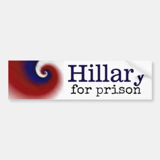 Hillary für Gefängnis-Autoaufkleber Autoaufkleber