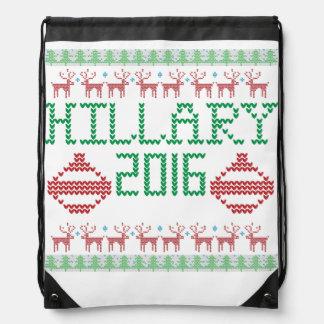 Hillary für hässliche Feiertag Strickjacke Turnbeutel