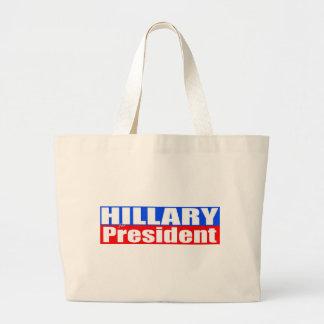 Hillary für Präsidenten Jumbo Stoffbeutel