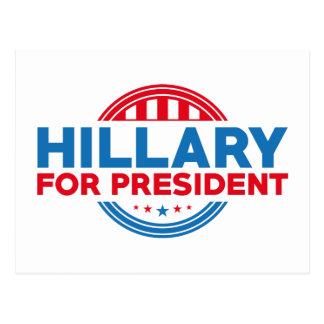 Hillary für Präsidenten Postkarte