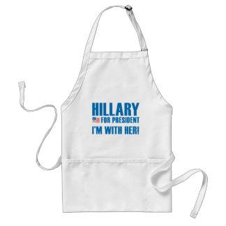 Hillary für Präsidenten Schürze