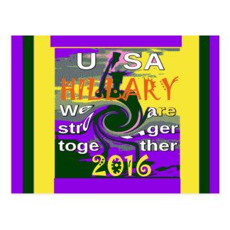 Hillary für USA Präsidenten We sind zusammen Postkarte