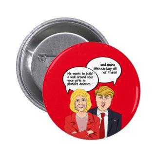 Hillary gegen Trumpf-Geburtstags-Karte - eine Wand Runder Button 5,7 Cm