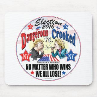 Hillary GEGEN Trumpfspitball-Politik Mousepad
