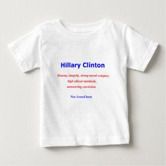 Hillary-Integritätsehrlichkeit nicht hier gefunden Baby T-shirt