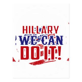 Hillary können wir es tun! postkarte