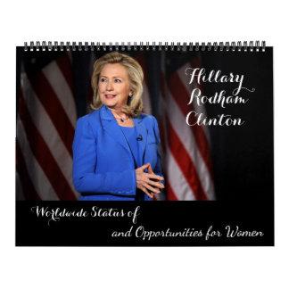 Hillary Rodham Clinton weltweiter Status der Abreißkalender