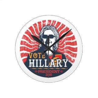 Hillary-Schatten Runde Wanduhr