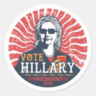Hillary-Schatten Runder Aufkleber