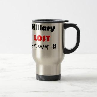 Hillary verlor, erhält über es politische Kunst Reisebecher