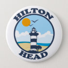 Hilton Head Island. Runder Button 10,2 Cm