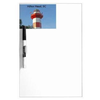 Hilton Head Leuchtturm, trocknen Löschen-Brett mit Memoboard