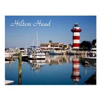 Hilton Head, Sc-Hafen-Stadtleuchtturm-Postkarte Postkarte