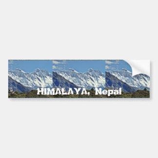 HIMALAJA - eine von 1000 Ansichten von NEPAL Autoaufkleber