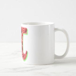 Himbeer- und PU-Symbol Kaffeetasse