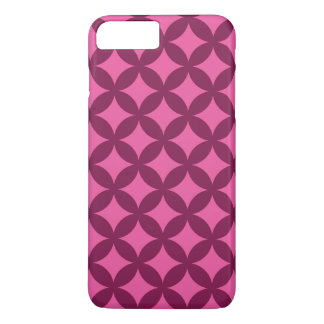 Himbeere und rosa Geocircle Entwurf iPhone 8 Plus/7 Plus Hülle