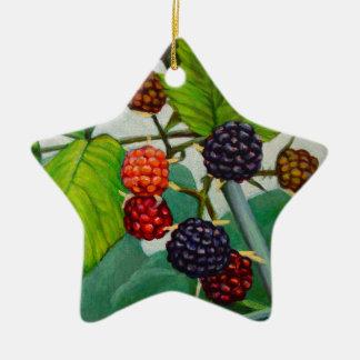 Himbeeren Keramik Ornament