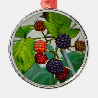Himbeeren Silbernes Ornament